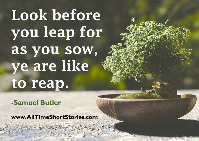 Think before you leap quote