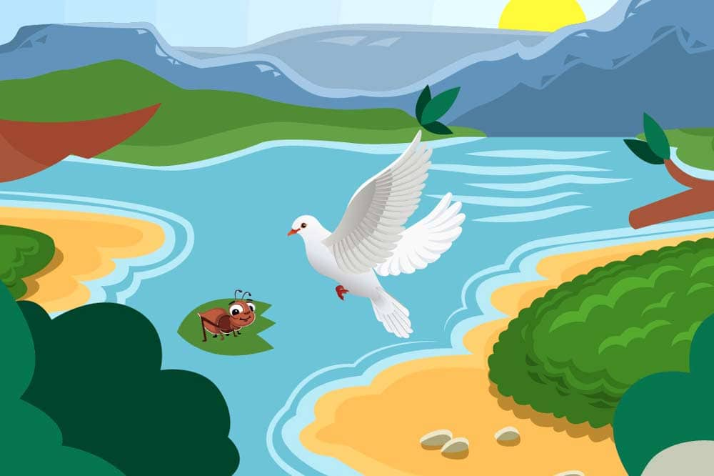 Children moral Stories- Ant and the Dove